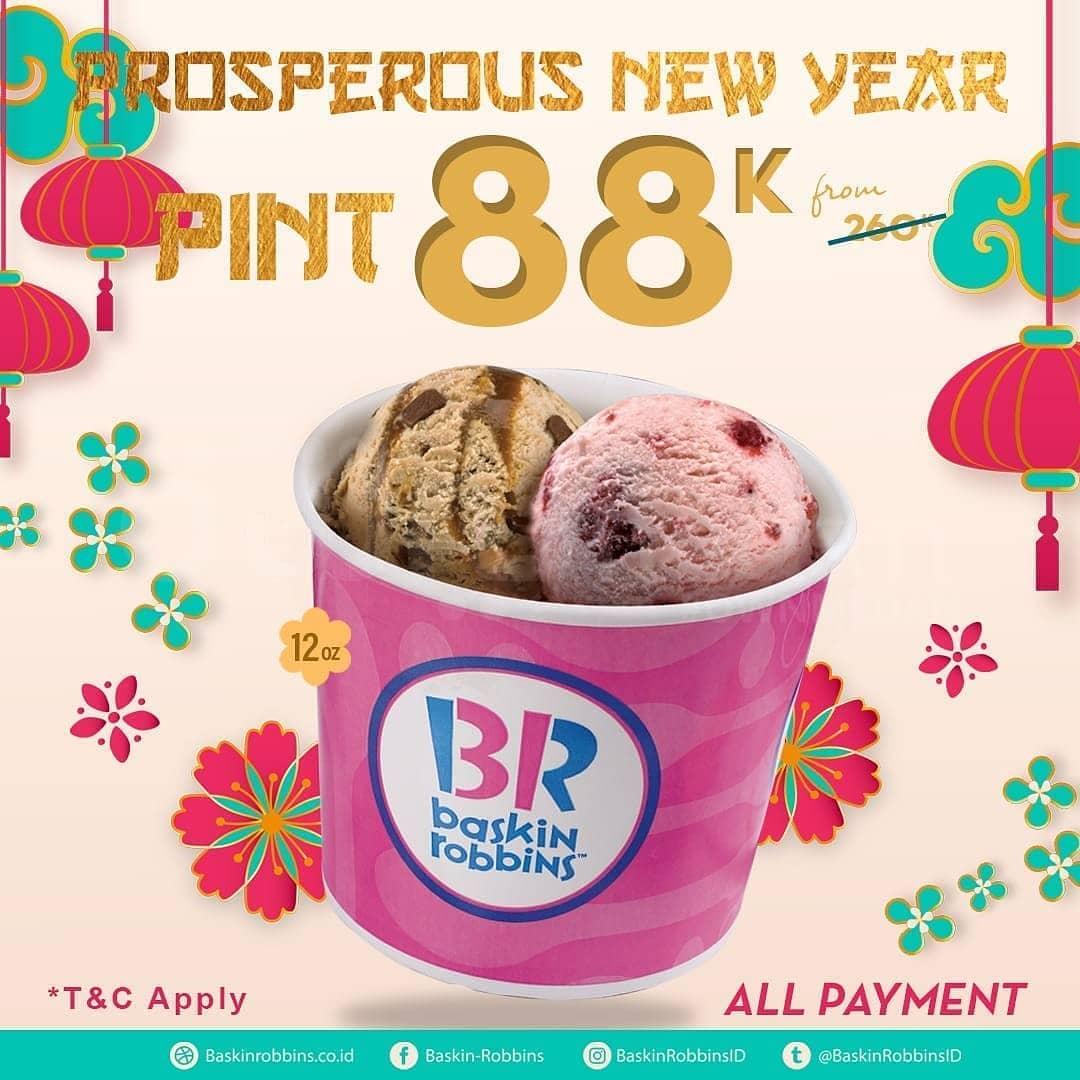 Baskin Robbins Promo Spesial Imlek, Harga Spesial Cuma Rp. 88 Ribuan!
