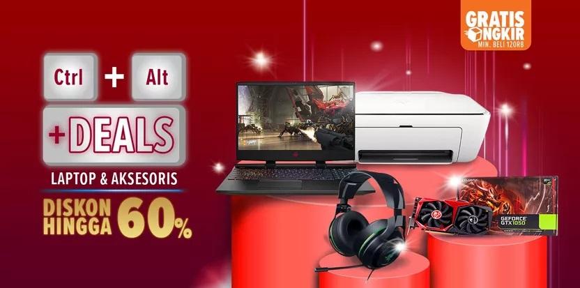 Lazada Promo Laptop Dan Aksesoris, Diskon Hingga 60%