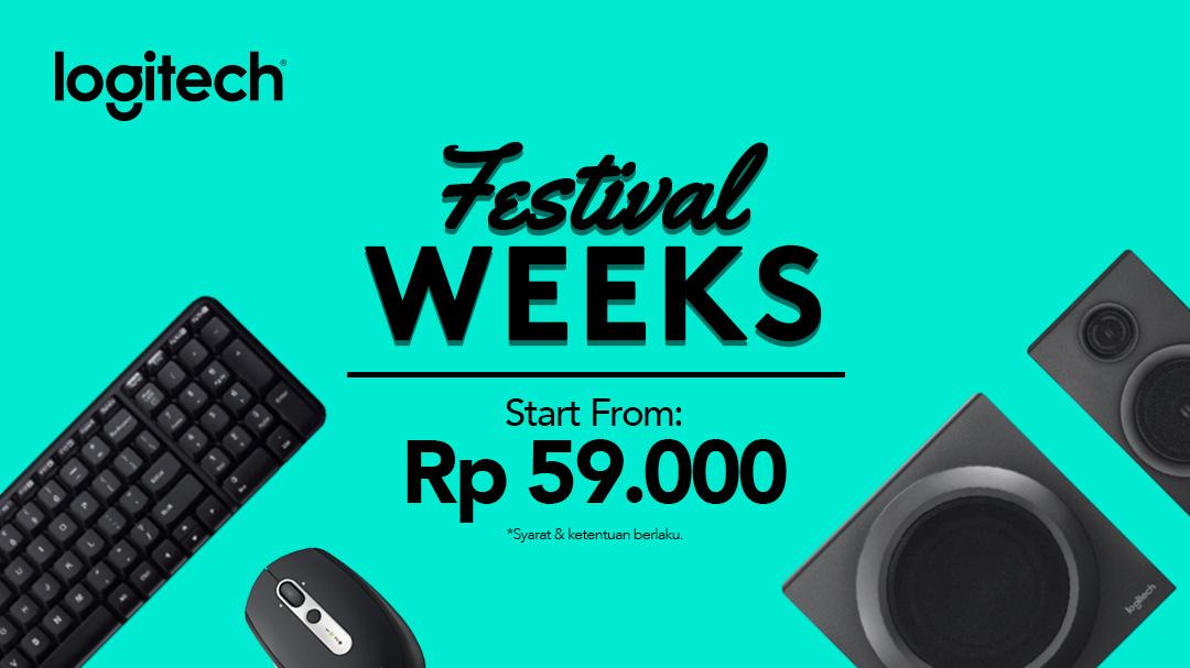 Blibli Logitech Promo Festival Week Mulai Dari Rp. 50 Ribuan