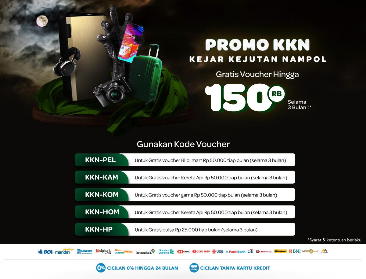 Blibli Promo Kejar Kejutan Nampol (KKN), Gratis Voucher Belanja Hingga Rp. 150.000!
