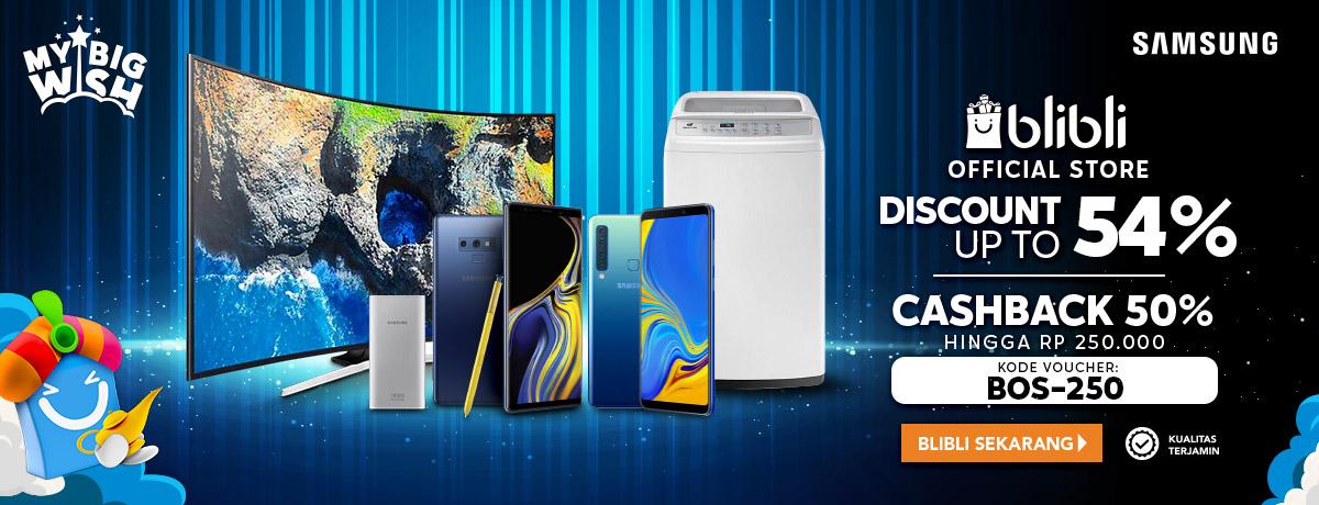 Blibli Samsung Official Store Great Sale, Promo HEBOH Diskon Hingga 54%
