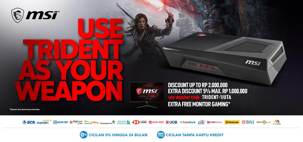 Blibli Promo TRIDENT Best Deal, Diskon Hingga Rp. 2.000.000 + Free Monitor Gaming!