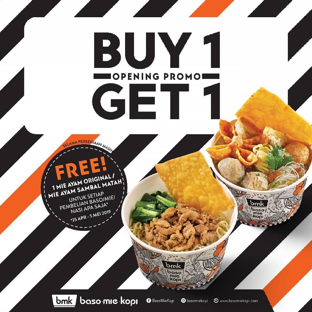 Baso Mie Kopi Promo Soft Opening, Buy 1 Get 1 Free