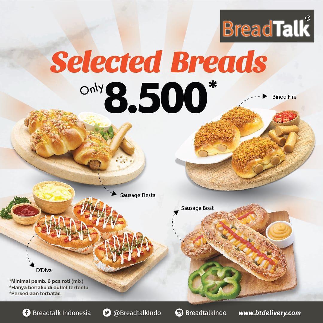 Breadtalk Promo Harga Spesial Hanya Rp. 8.500 Untuk Roti Pilihan