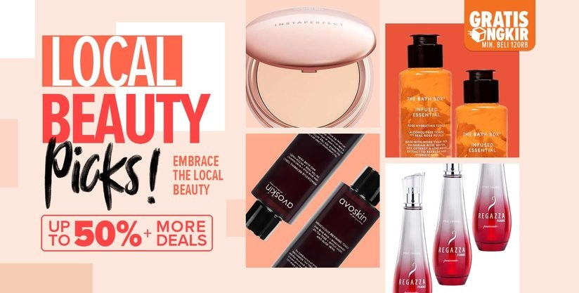 Lazada Promo Local Beauty Picks, Diskon hingga 50%