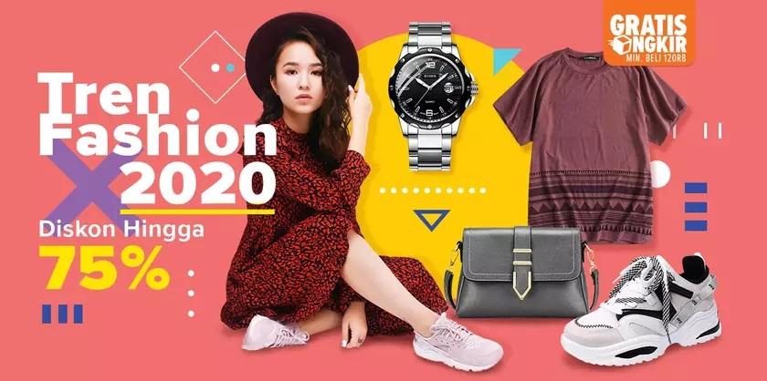 Lazada Promo Tren Fashion 2020, Diskon hingga 75%