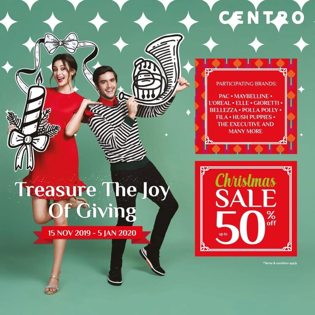 Centro Department Store Promo Christmas Sale, Diskon Hingga 50%!
