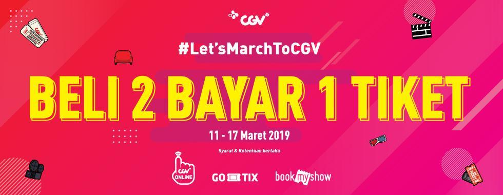 CGV Cinema Promo March To CGV, Buy 2 Get 1 Free