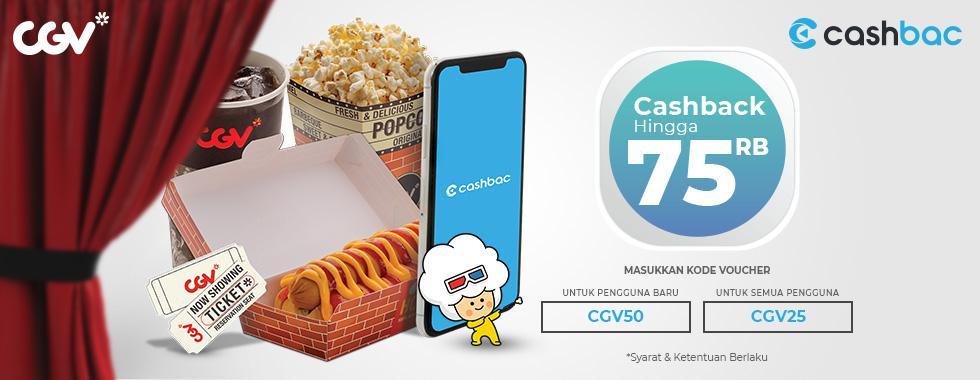 CGV Cinema Promo Nomat Dengan Cashbac, Cashback Hingga Rp. 75.000