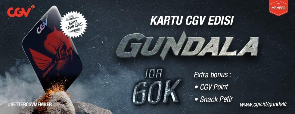 CGV Cinema Promo Kartu CGV Edisi Gundala, Harga Rp. 60.000!