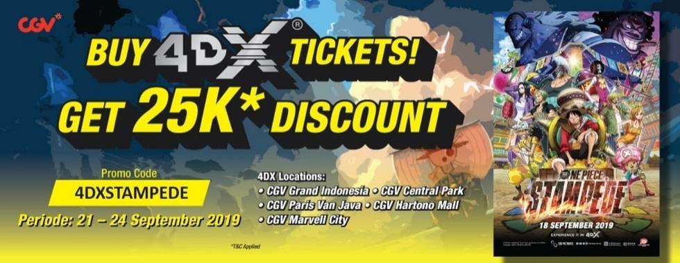 CGV Cinema Promo Spesial Tiket Nonton One Piece Stampede, Diskon Rp. 25.000!