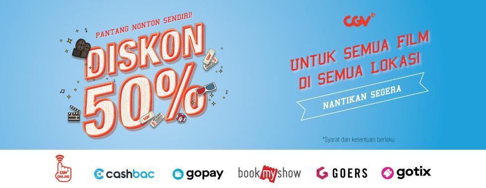 CGV Cinema Promo Pantang Nonton Sendiri, Diskon 50%!