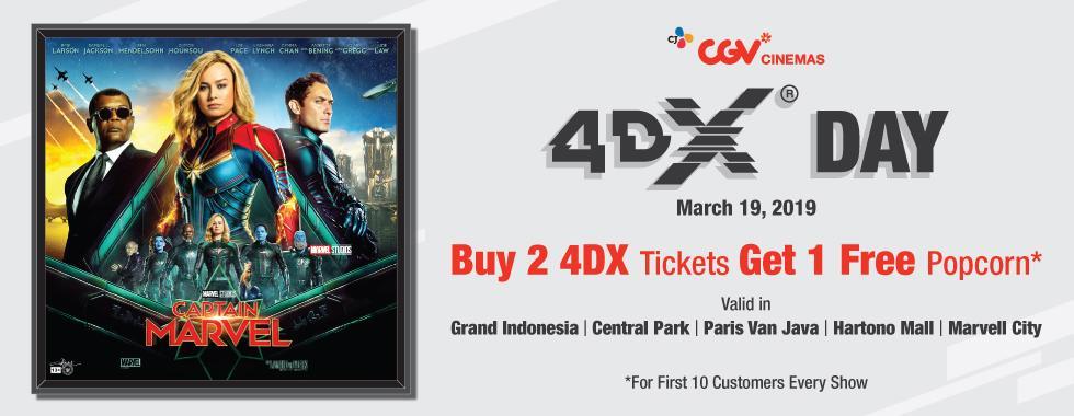 CGV Cinema Promo Captain Marvel, Buy 2 Get 1 Free