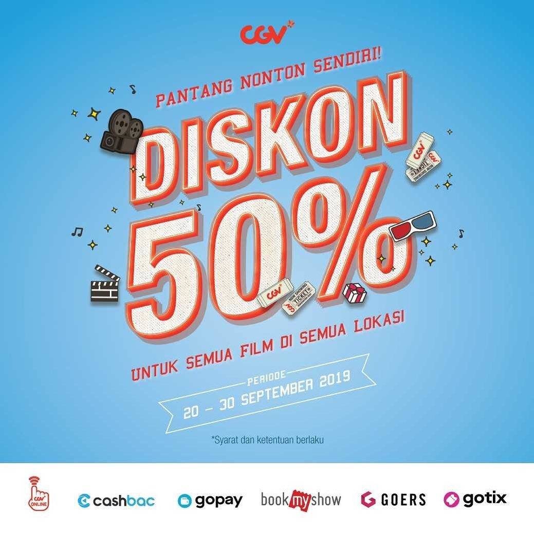CGV Cinema Promo Pantang Nonton Sendiri, Diskon Langsung 50%!