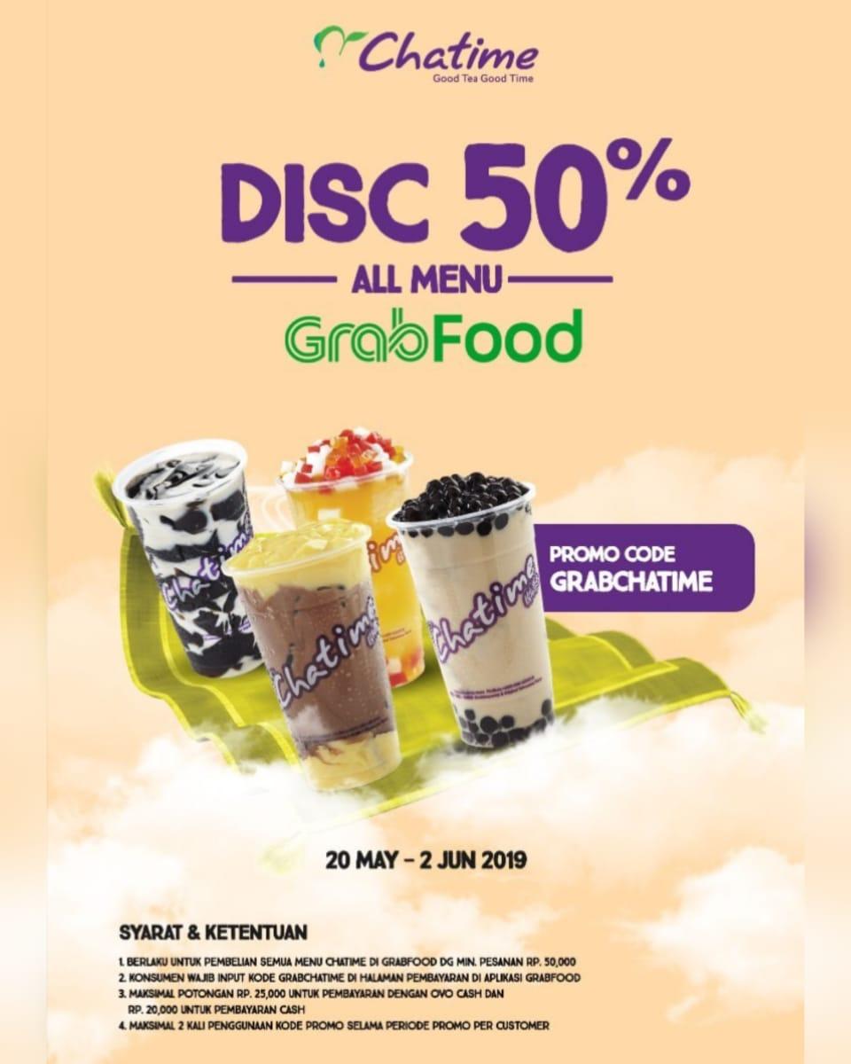 Chatime Promo Spesial Grabfood, Diskon 50% Off!