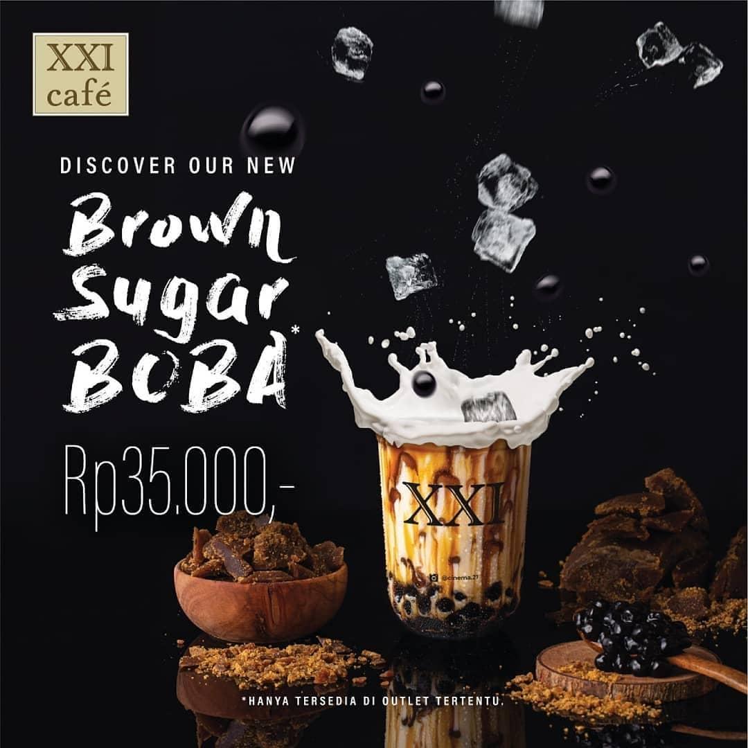 Cinema Xxi Promo Menu Minuman Terbaru Beli Brown Sugar Boba Cuma