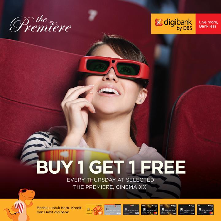 Cinema XXI Promo Spesial Buy 1 Get 1 The Premiere