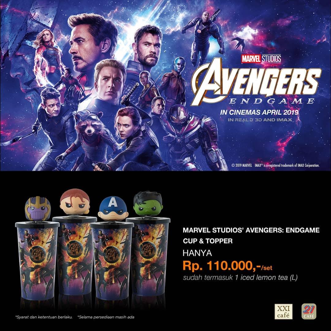 Cinema XXI Promo Spesial Official Merchandise Avengers Endgame, Harga Mulai Rp. 110 Ribuan