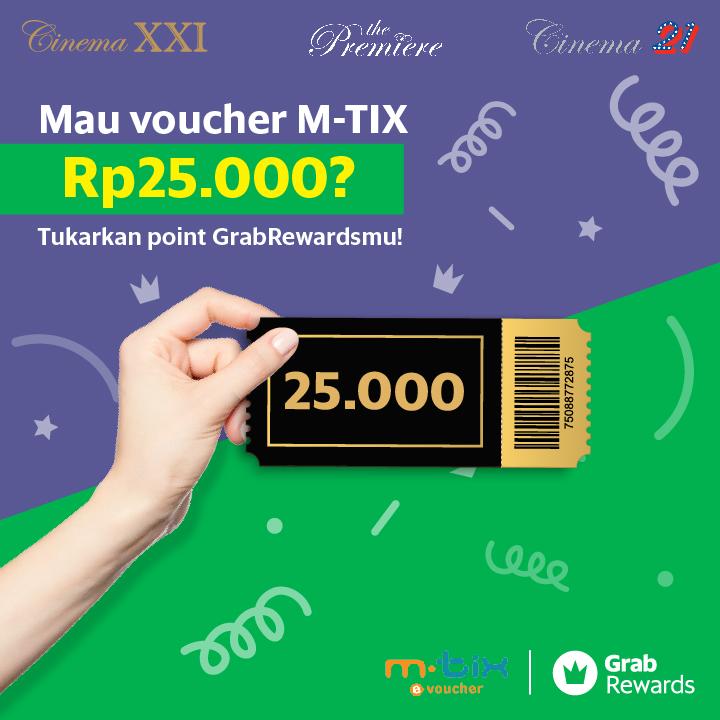 Cinema XXI Promo Spesial Grabrewards, Free Voucher MTix