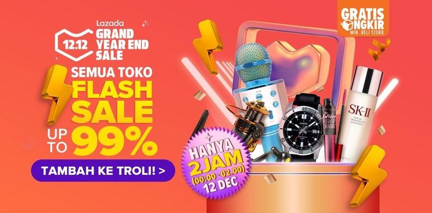 Lazada Promo 12.12 Flash Sale Semua Toko, Diskon hingga 99%
