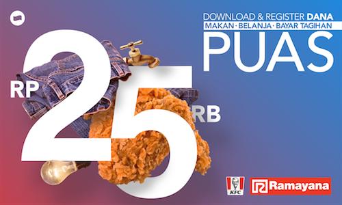 Dana Promo Gratis Voucher KFC Dan Ramayana Dept Store Senilai Rp. 25.000