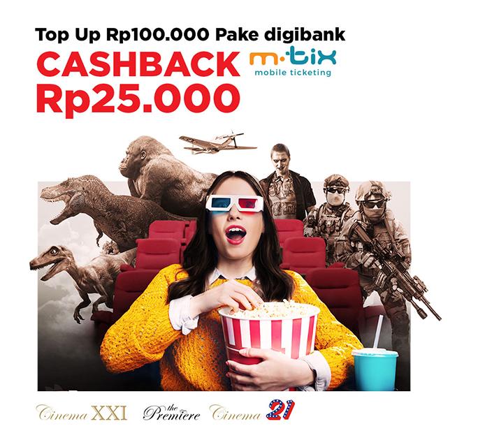 Cinema XXI Promo Spesial DBS Card, Free Saldo Mtix Rp. 25.000!
