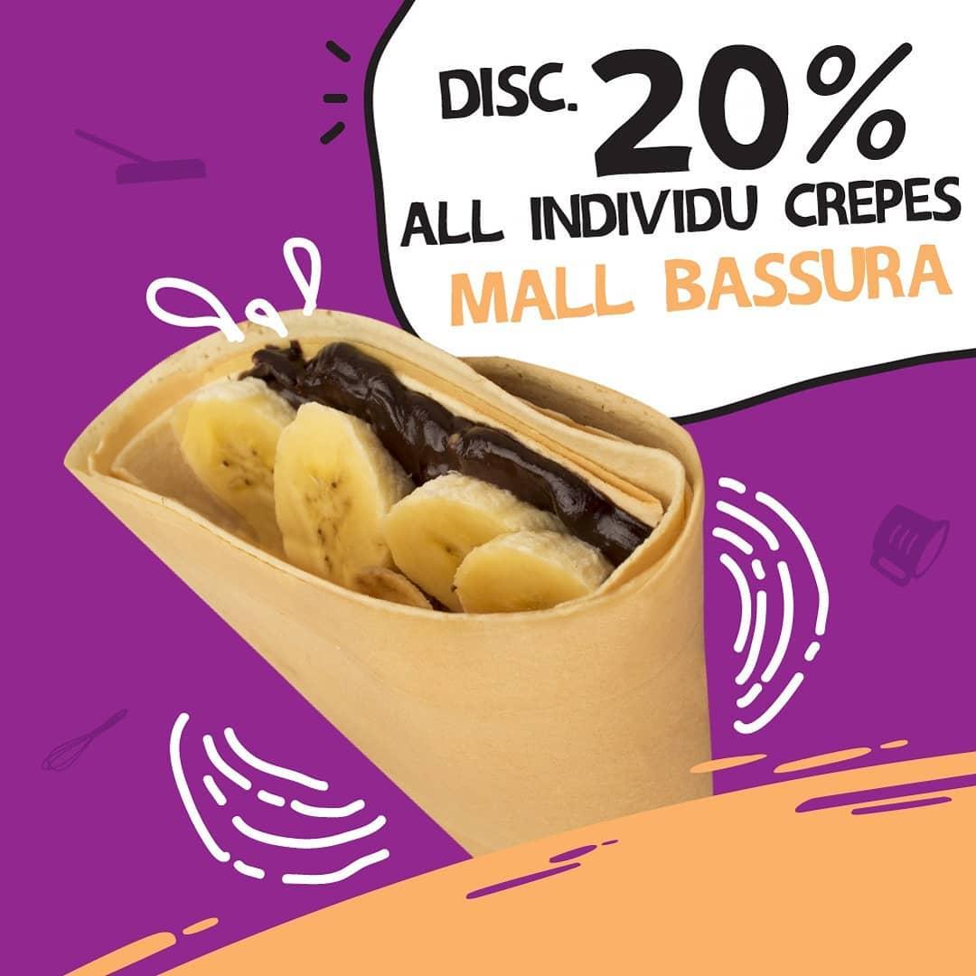 DCrepes Promo Spesial Soft Opening, Diskon 20%!