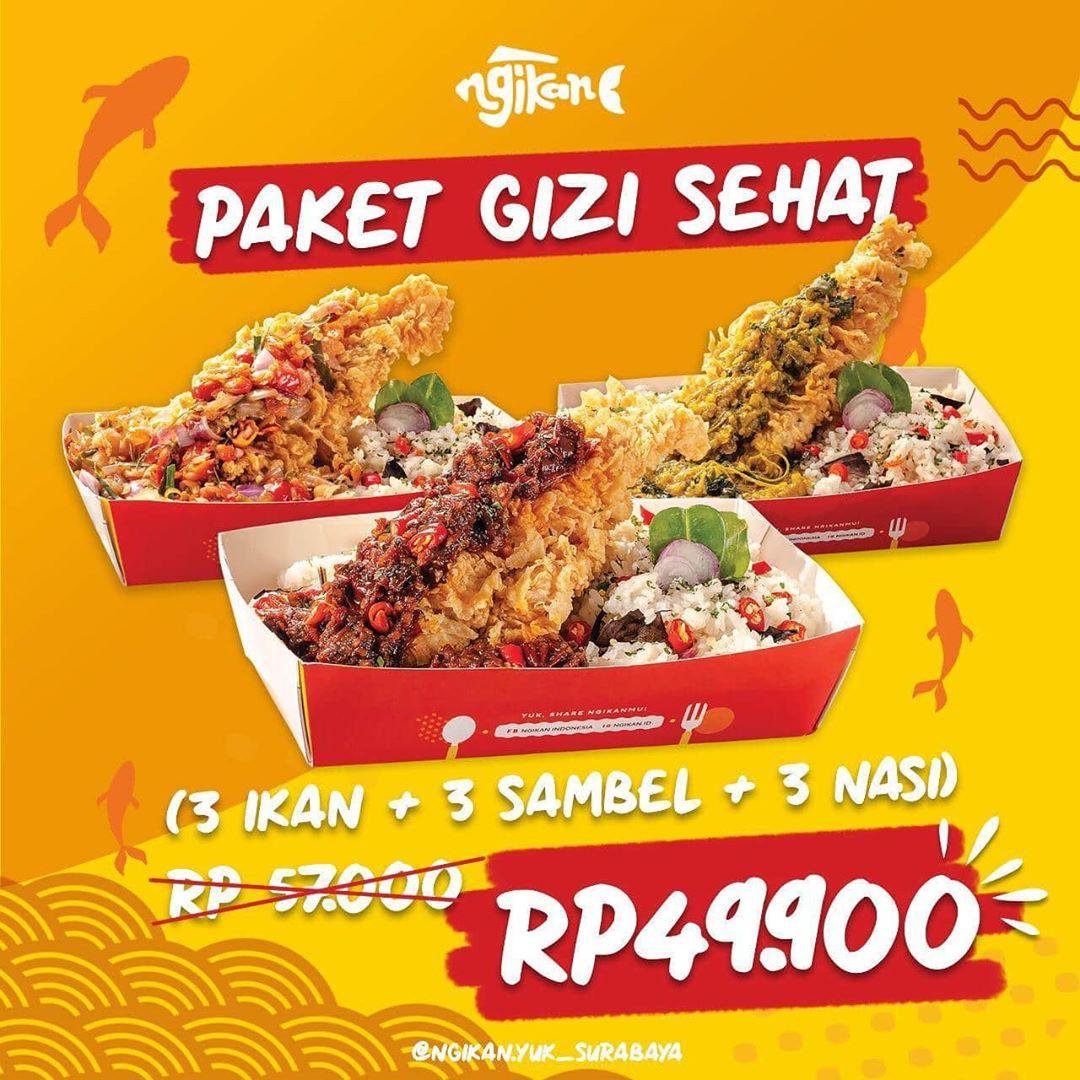 Ngikan Promo Paket Gizi Sehat Surabaya, 3 Paket Ikan + Nasi Hanya ...