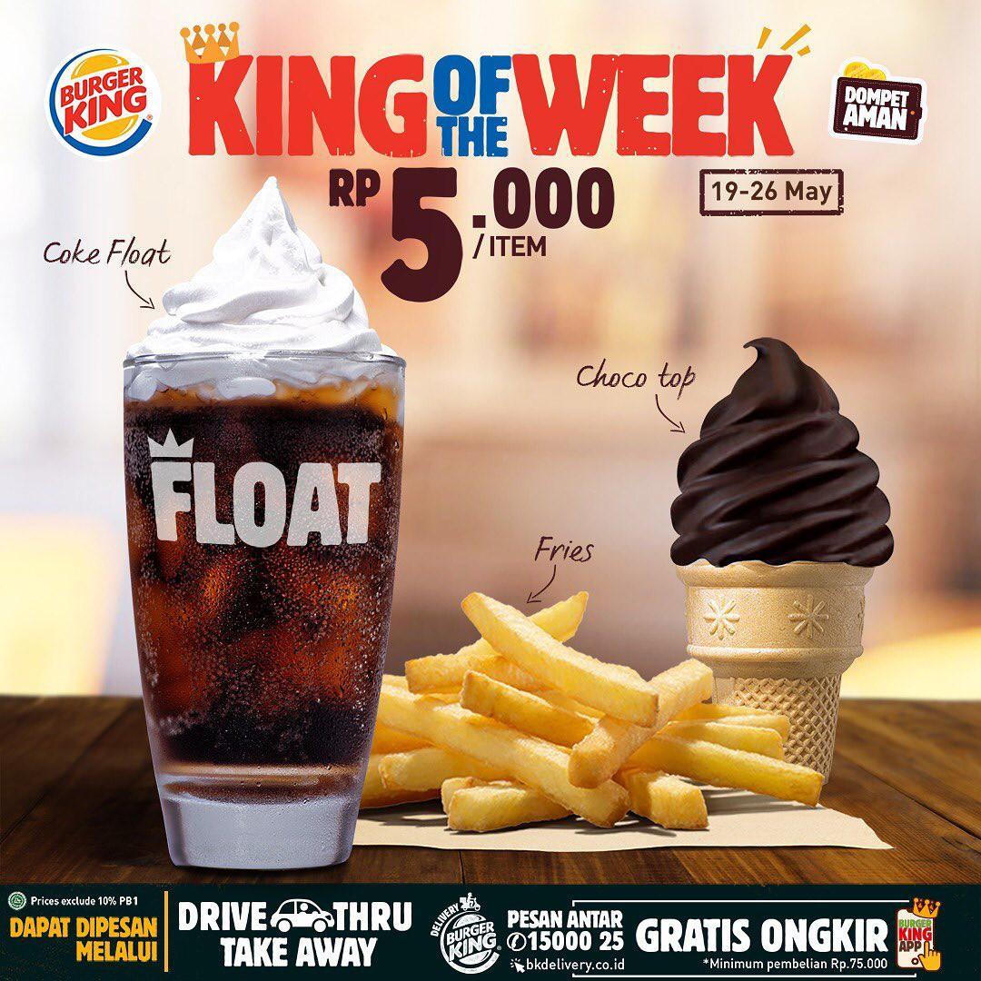Burger King Promo King of The Week, Cuma 5.000!