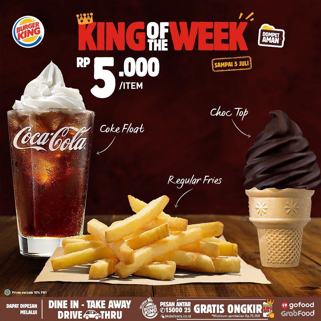Burger King Promo King Of The Week, Makan Enak Mulai Rp. 5 Ribuan Gengs!