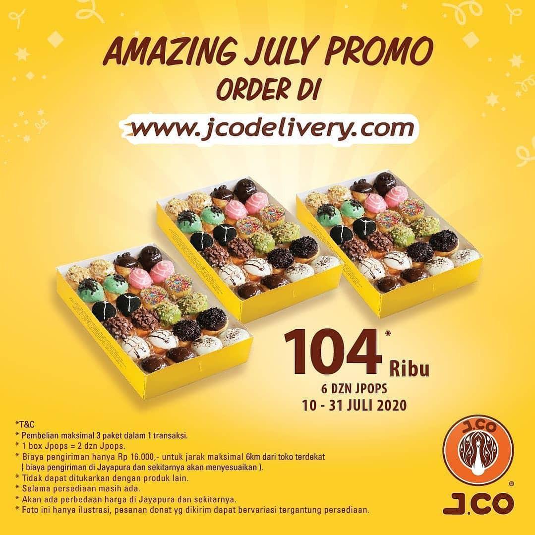 J.CO Donuts Promo Delivery, 6 Lusin J.Pops Hanya Rp 104 Ribu!