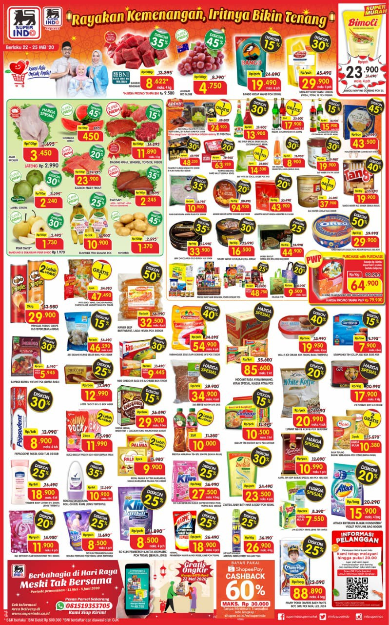 Katalog Promo JSM Superindo Supermarket Periode 22-25 Mei 2020