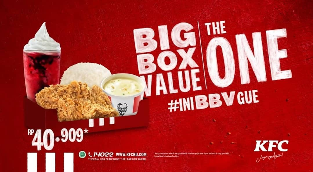 KFC Promo BIG BOX VALUE THE ONE, Ini Di Harganya!