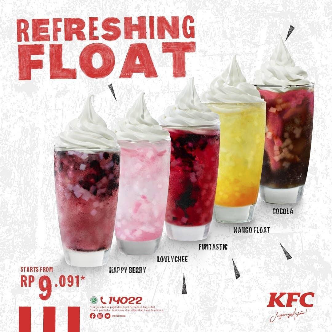 KFC Promo Menu Float Terbaru, Harga Rp. 9 Ribuan!