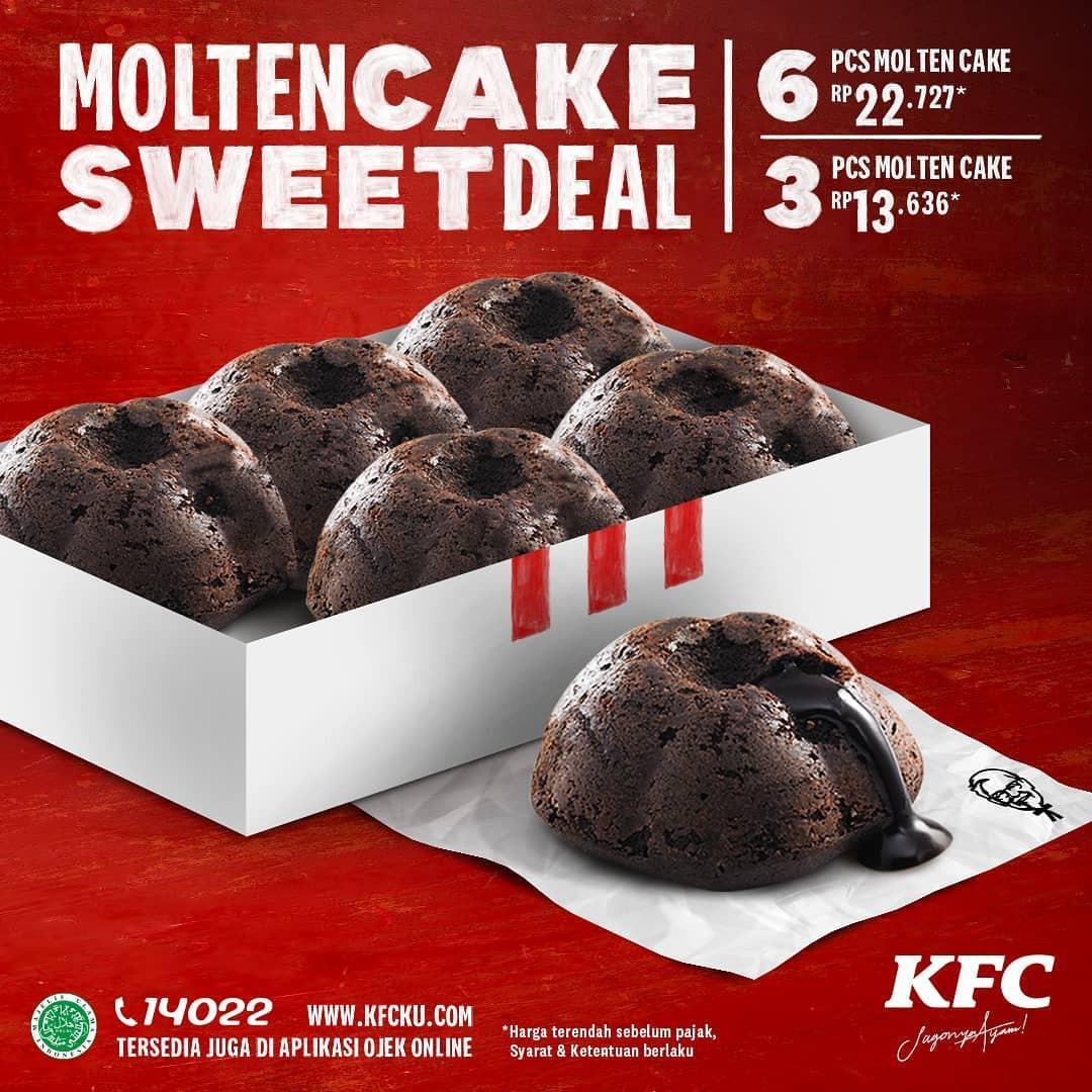 KFC Promo Menu Terbaru Molten Cake Sweet Deal, Ini Dia Harganya!