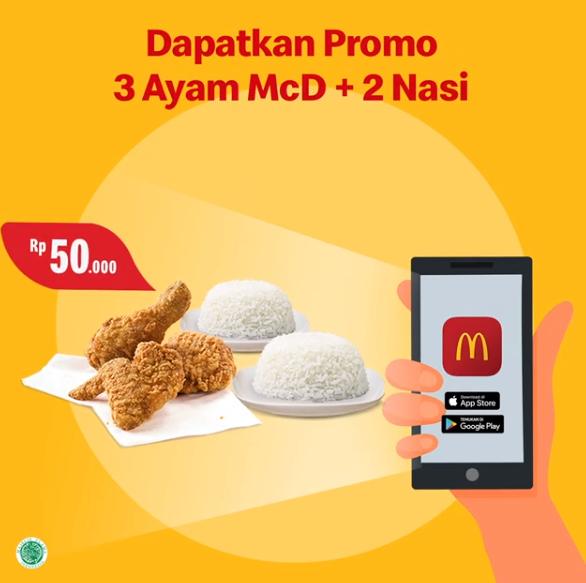 McDonalds Promo Aplikasi, Makan Berdua Hanya Rp 50 Ribuan!