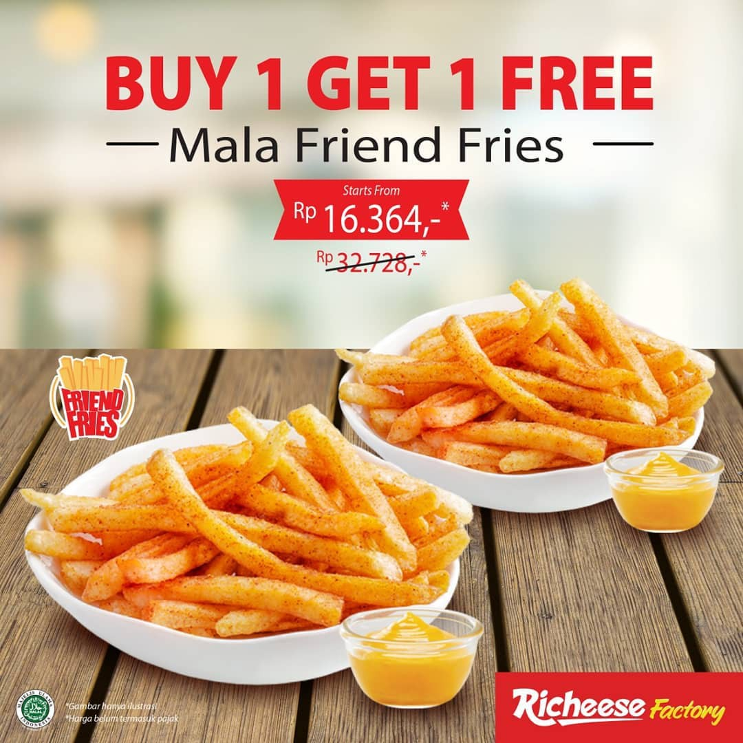 Richeese Factory Promo Mala Friend Fries, Buy 1 Get 1 Free!