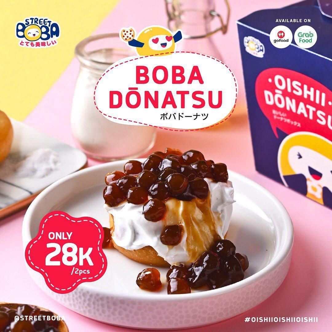 Street Boba Promo Boba Donatsu, Hanya Rp 28.000/2 pcs!