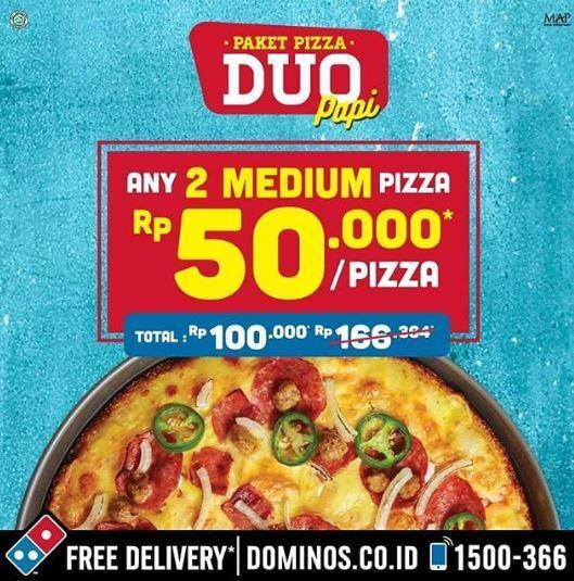 Dominos Pizza Promo Paket Pizza Duo Papi, Harga Mulai Dari Rp. 50.000an!