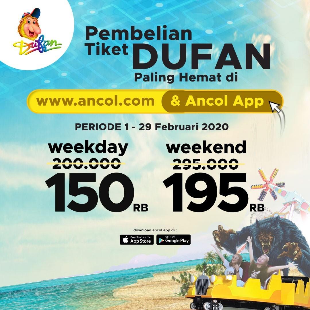 Dufan Promo Spesial Aplikasi, HTM Mulai Rp. 150.000!
