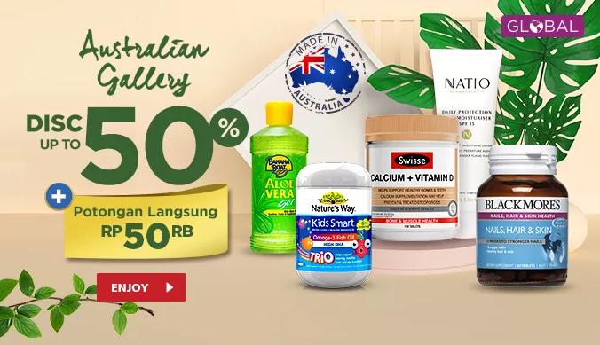 JD.ID Promo Australian Gallery, Suplemen & Vitamin Import Diskon Hingga 50%