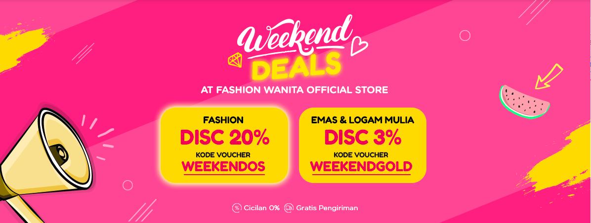Blibli Promo Official Store Weekend Deals, Diskon Hingga 20%
