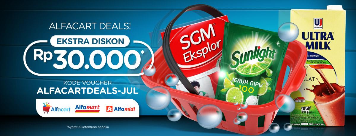 Blibli Promo Alfacart Deals Juli, Ekstra Diskon Rp 30.000