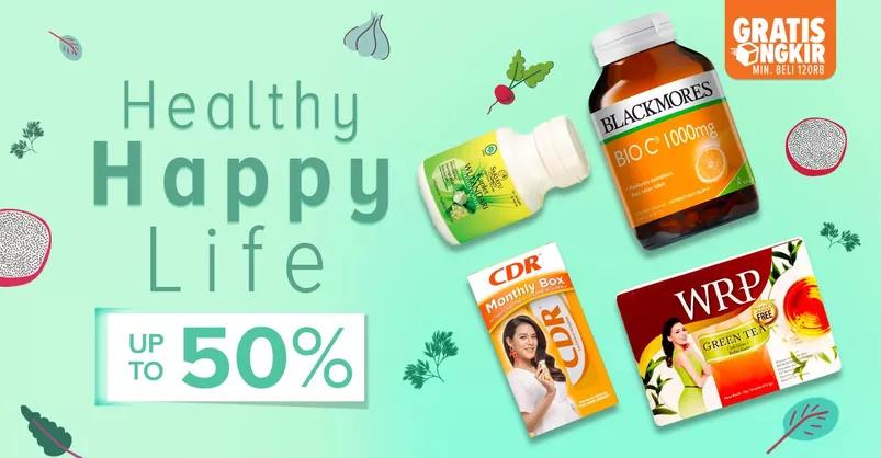 Lazada Promo Healthy Happy Life, Diskon Hingga 50%