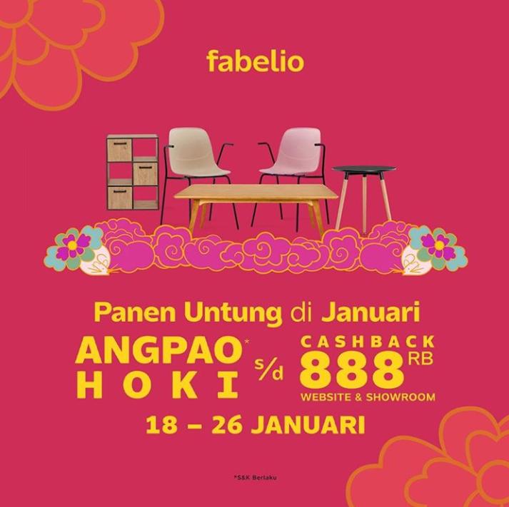 Fabelio Promo Special Chinese New Year Mulai Dari Rp 44.000 + Cashback Hingga Rp 888.000!