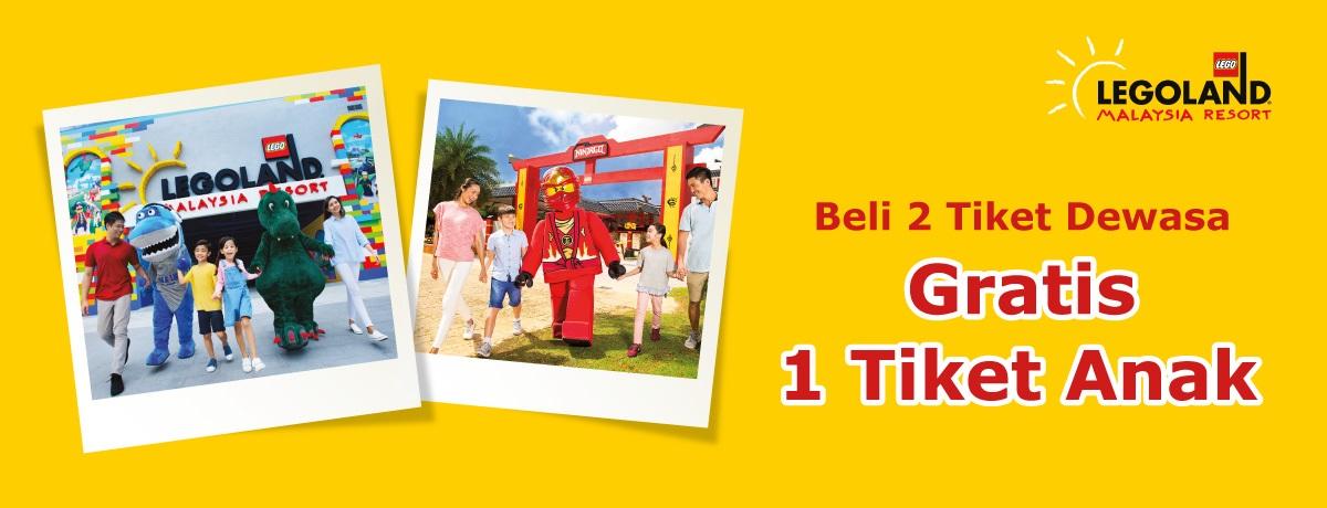 Blibli Promo Tiket Legoland, Beli 2 Tiket Gratis 1 Tiket
