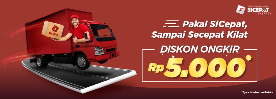 Tokopedia Promo Spesial Diskon Ongkir SiCepat Rp 5.000