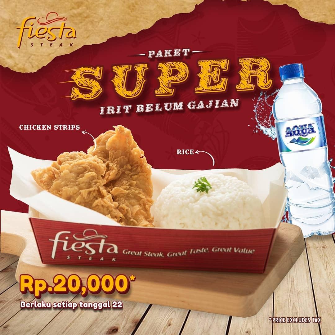 Fiesta Steak Promo Makan Enak Akhir Bulan, Harga Cuma Rp. 20.000!