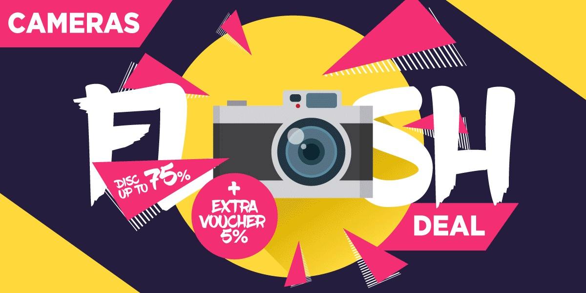 JD.ID Promo Kamera Flash Deal, Diskon Hingga 75% + Extra Voucher 5%