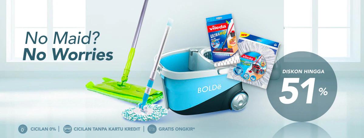 Blibli Promo Peralatan Kebersihan Rumah Tangga Diskon Hingga 51%